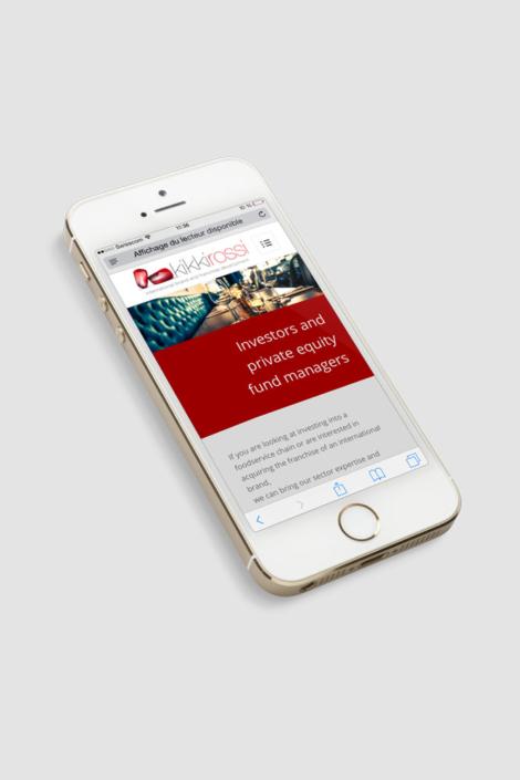 kikkirossi - site mobile